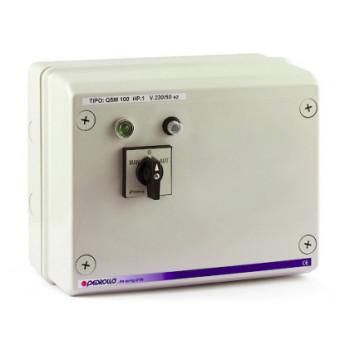 Станция управления QSM 100 для погружных скважинных электронасосов Pedrollo с датчиками уровня